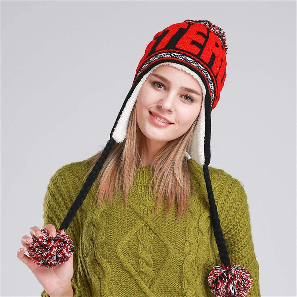 RGUU Fashion Designer Beanies Winter with Ears Warm Beanie Girl Hats with Top Ball Bonnet Femme 3
