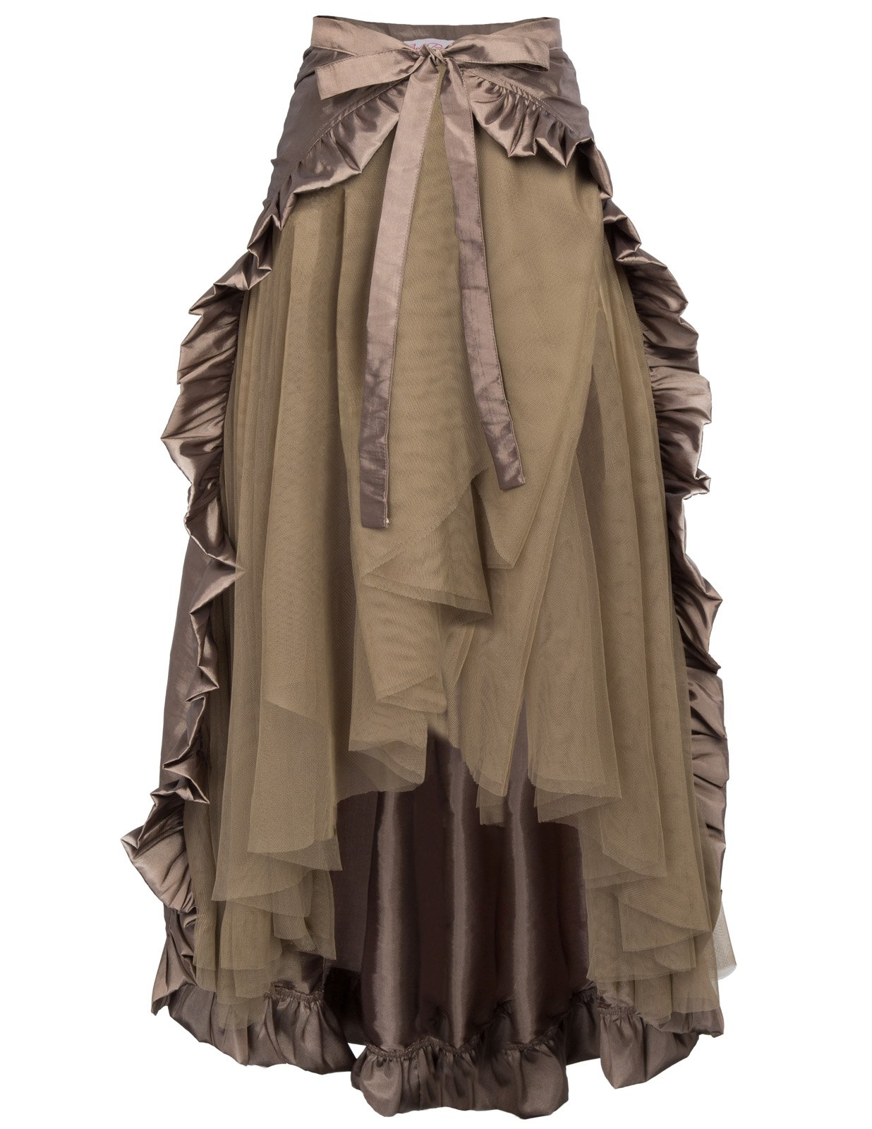 Steampunk Victorian Renaissance Pirate Skirt Bustle Style BP000206-2 MCoffee