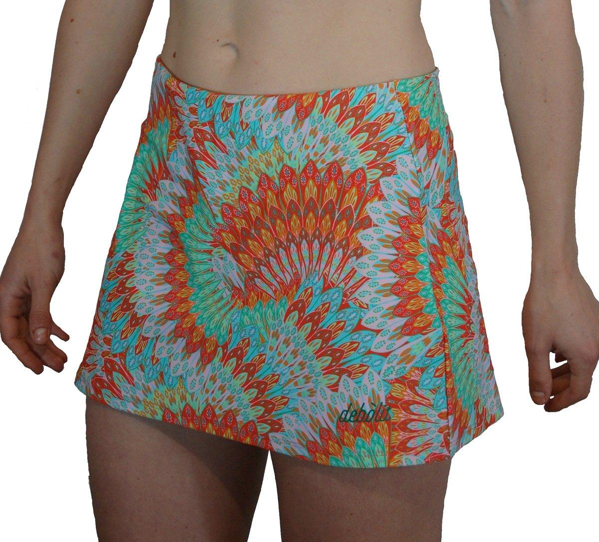 DEBOLIT - Falda Pavo Real. Faldas de Padel/Tenis con Pantalon ...