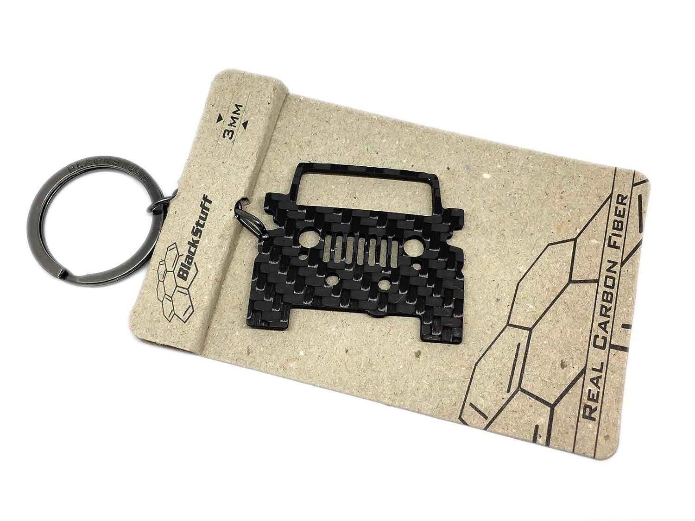 Llavero de Fibra de Carbono Jeep Wrangler Rubicon Cadena de Claves BlackStuff
