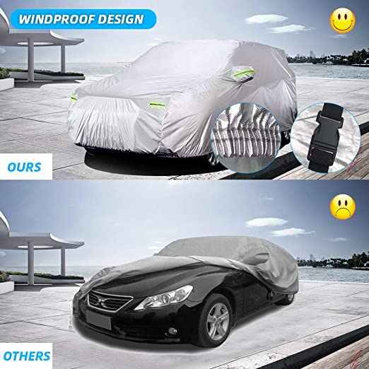 Color : VITARA cover Car Cover Car Covers Compatible with Suzuki Vitara Oxford Cloth Waterproof All Weather Windproof Dustproof Rain Snow Proof Breathable Cotton Lined