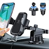 VANMASS Wireless Car Charger Mount, Automatic Clamping, Qi Fast Charging, QC 3.0 Car Charger, Windshield Dash Air Vent Phone