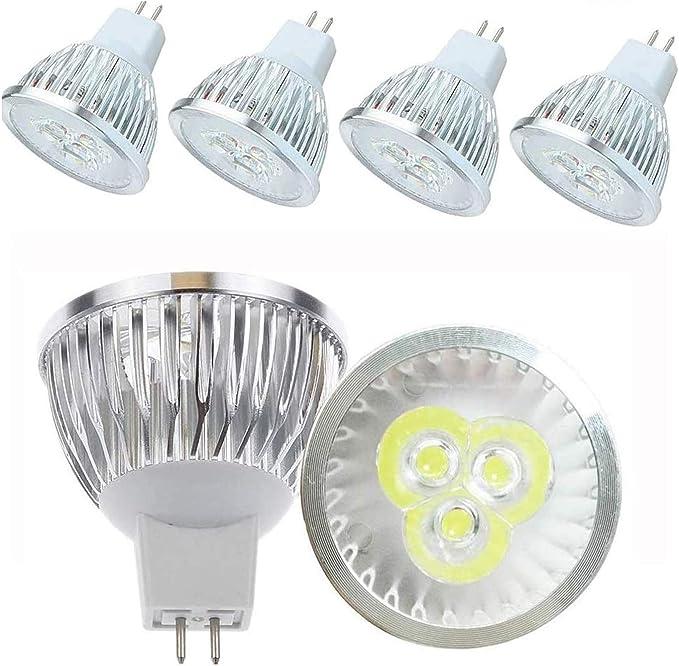 JKLcom GU5.3 LED Bulbs MR16//GU5.3 3W LED Spotlight,3W Warm White 3000K LED Spot Light Bulbs for Landscape Recessed Track Lighting,85-265V,240LM,Pack of 8 Equivalent 20W-35W Halogen Bulb Replacement
