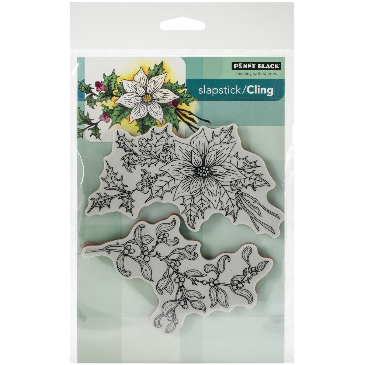 Penny Black 40-352 Decorative Rubber Stamps Festive Florals
