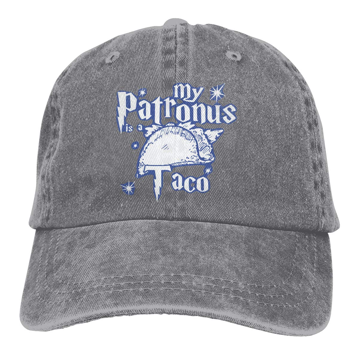 PMGM-C My Patronus is A Taco Unisex Personalize Jeans Outdoor Sports Hat Adjustable Baseball Cap