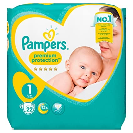 Pampers New Baby Couches 2 5 Kg Taille 1 22 Pièces Amazonfr