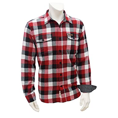 Field & Stream Men's Classic Plaid Flannel Shirt (Large, Hibiscus ...
