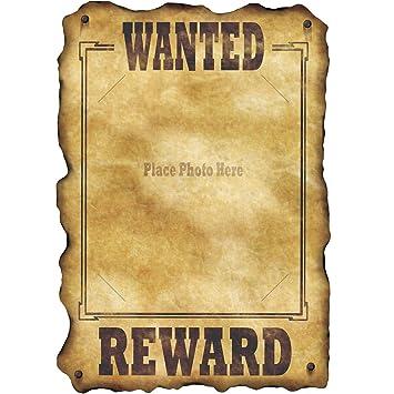 Pack de 12 Western Wanted Sign: Amazon.es: Juguetes y juegos
