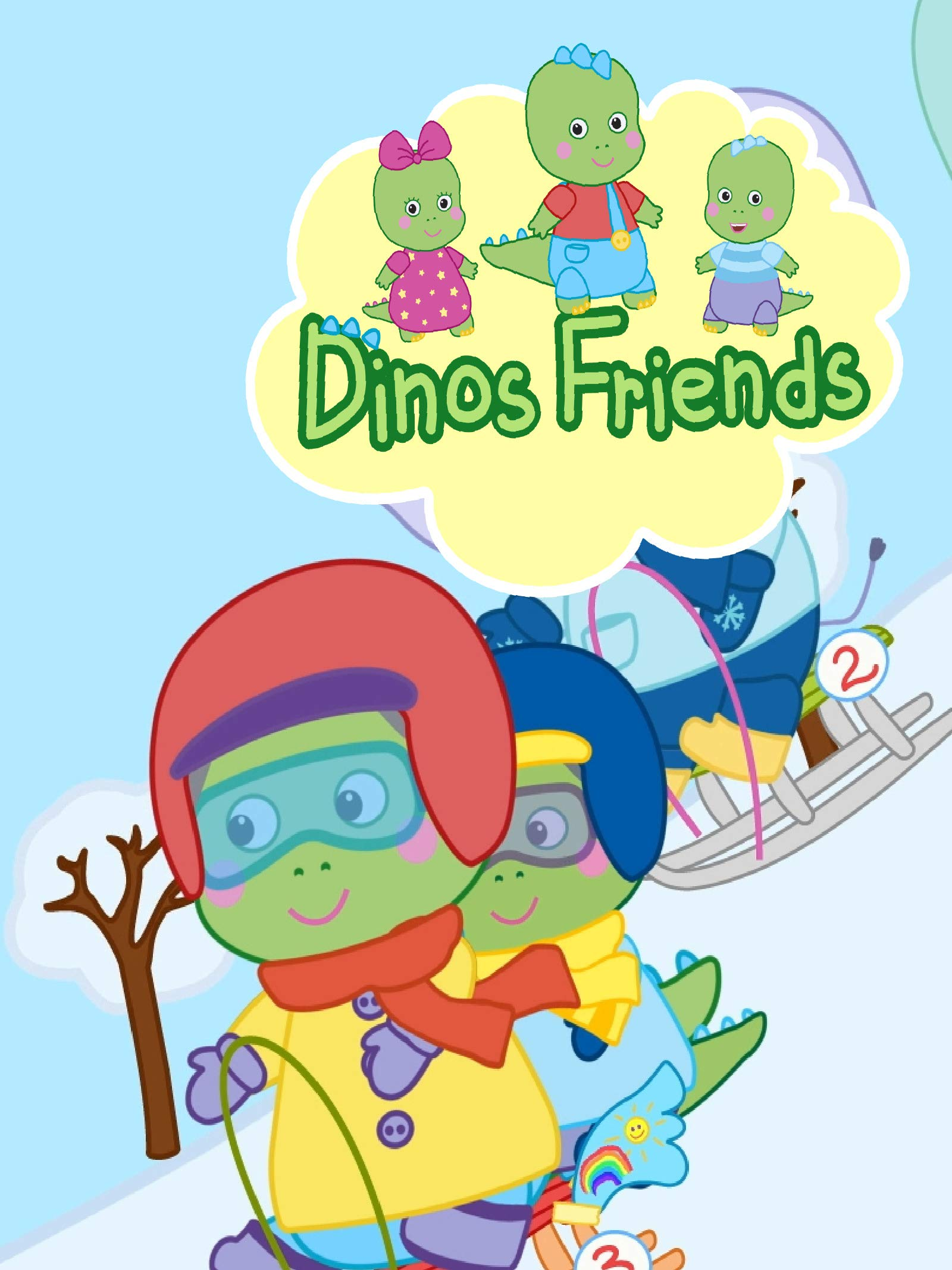 Dinos Friends Sled Racing on Amazon Prime Video UK