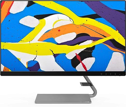 Lenovo Q24i-10 60,45 cm (23,8 pollici, 1920 x 1080, Full HD, 75 Hz, IPS, opaco) Monitor (VGA, HDMI, tempo di reazione 4 ms, AMD FreeSync) nero
