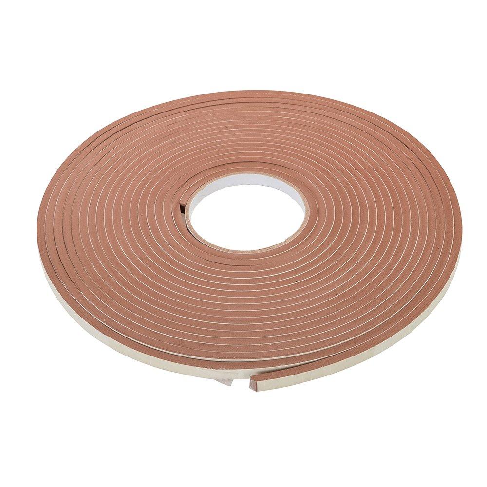 Fixman 388856 Self-Adhesive Brown EVA Foam Weather Strip - 3-8mm Gap Seal 10.5m Length Silverline Ltd