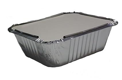GFC No2 - Lote de 100 bandejas de aluminio para comida