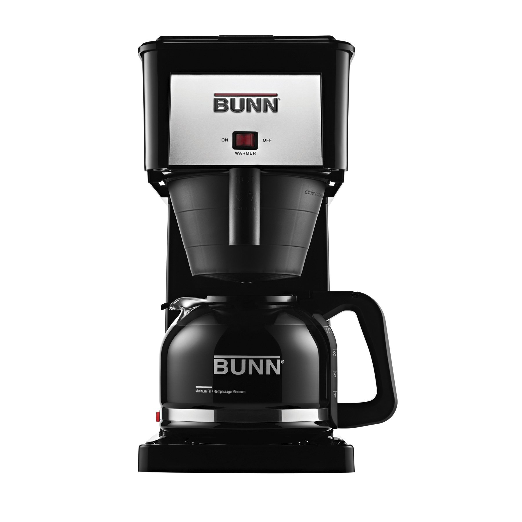 BUNN GRB Velocity Brew 10-Cup Home Coffee Brewer, Black by BUNN
