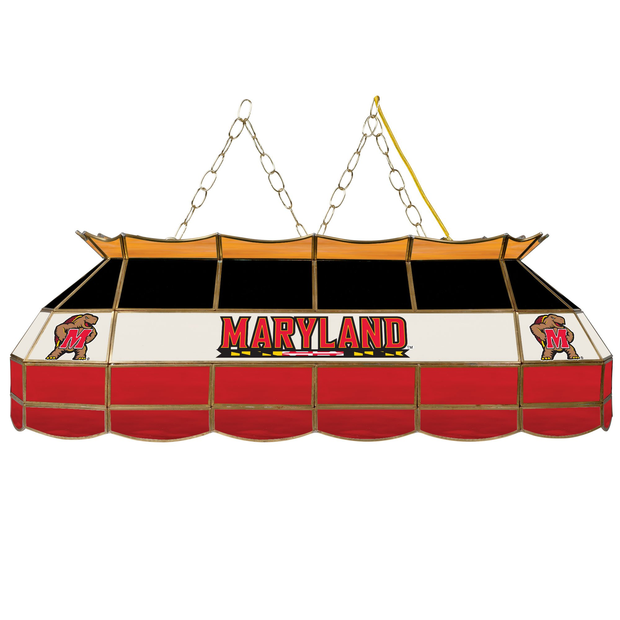 NCAA University of Maryland Tiffany Gameroom Lamp, 40''