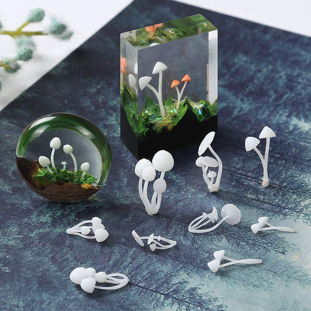 3 Size 3 Shapes Daimay 9PCS Silicone Mushroom Mold Resin Epoxy Mould Jewelry Pendants Resin Casting Circle Model for DIY Jewelry Craft Making