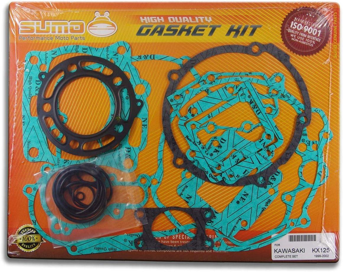 Complete Engine Gasket Kit Set for Kawasaki KX 125 Sumo 20 Pieces 1998-1999-2000-2001-2002