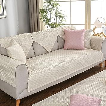 Amazon.com: Fundas de sofá, color sólido Tejidos funda para ...