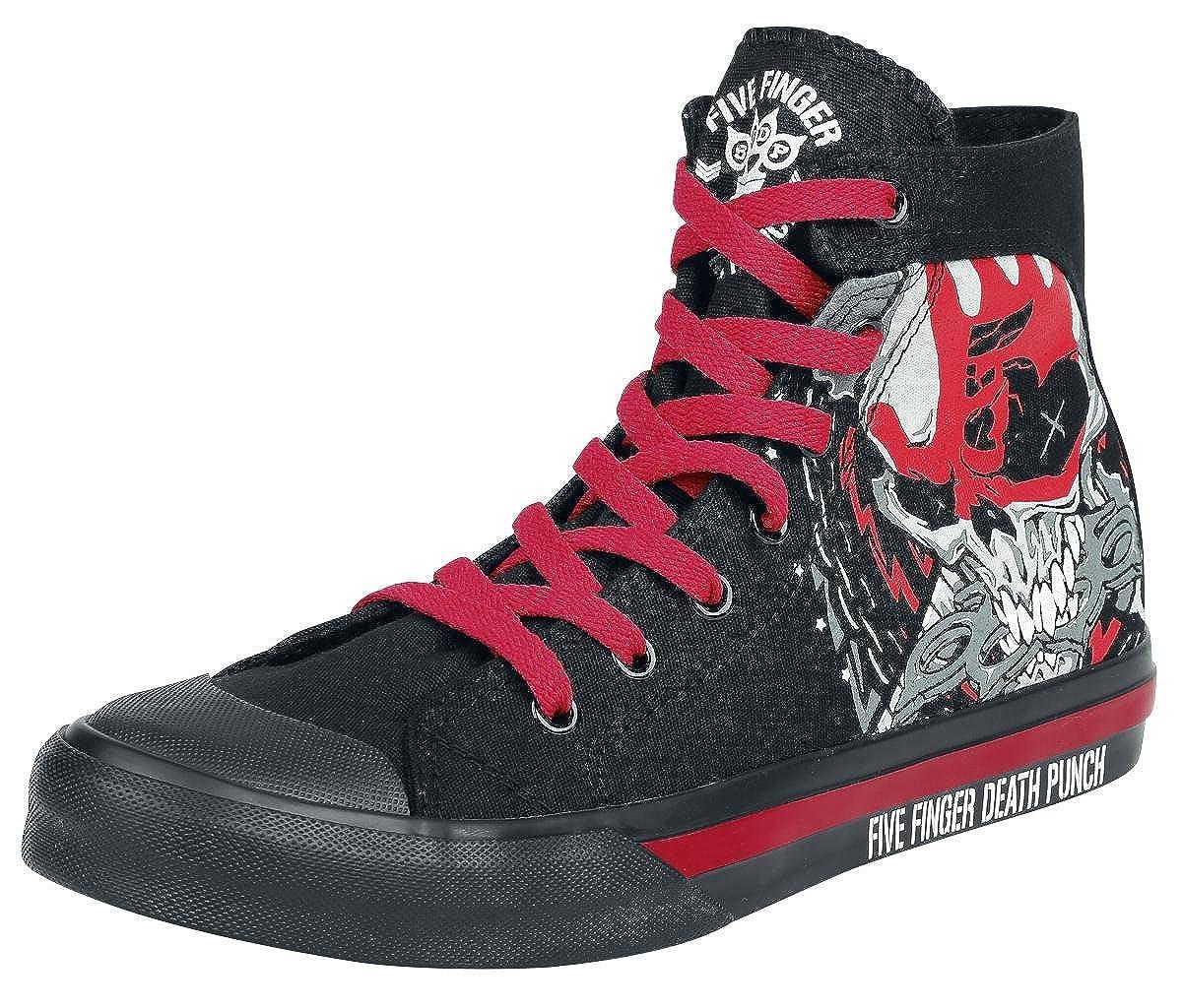 Five Finger Death Punch Zombie Kill Zapatillas Negro EU47: Amazon.es: Zapatos y complementos