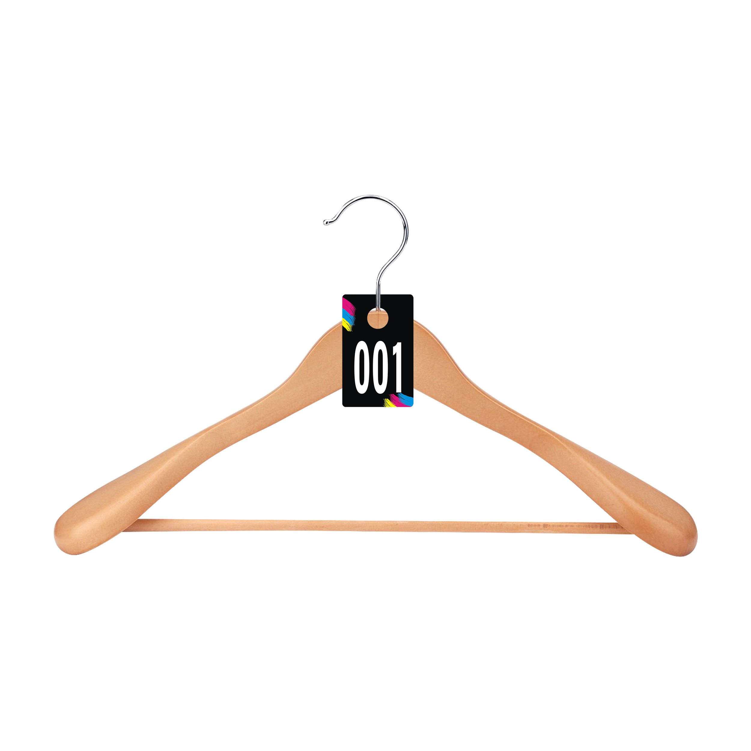 Coat Checks Numbers Zilpoo 200 Tags Number 001-200 Reusable Normal and Reverse Mirror Image Hanger Cards Live Sale Plastic Tags