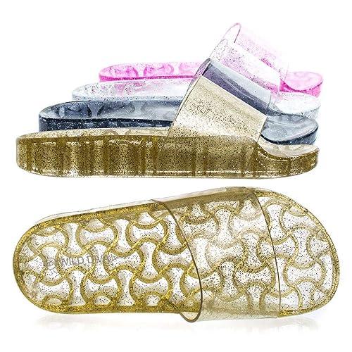 108d88fc0eb87 Herstyle Women's SL-050117, Glitz Jelly Slide Sandals