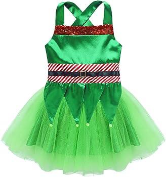 ranrann Disfraz de Campanilla para Niña Vestido Verde de Elfo ...