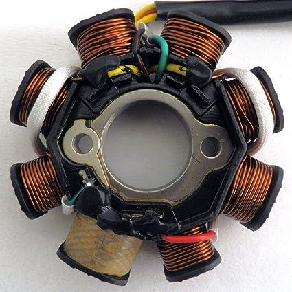 yunshuo Magneto bobina de estator 8 5 alambre chino GY6 125 ...