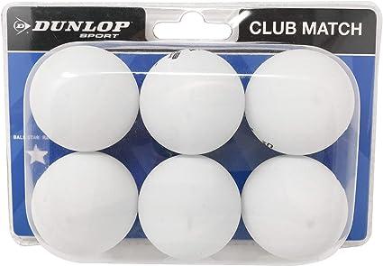 Dunlop Pelotas de Tenis de 1 Estrella Club Match - Pack de 6 ...