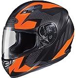 HJC Helmets CS-R3 Unisex-Adult Full Face Treague Motorcycle Helmet (Black/Orange, Medium)