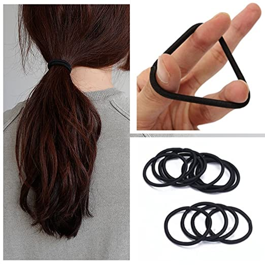 Hair-friendly elastic bands that can be easily taken out without damage to  your hair. The 4mm thicknesses are the easiest to work with medium to think  hair. 2f558c3da09