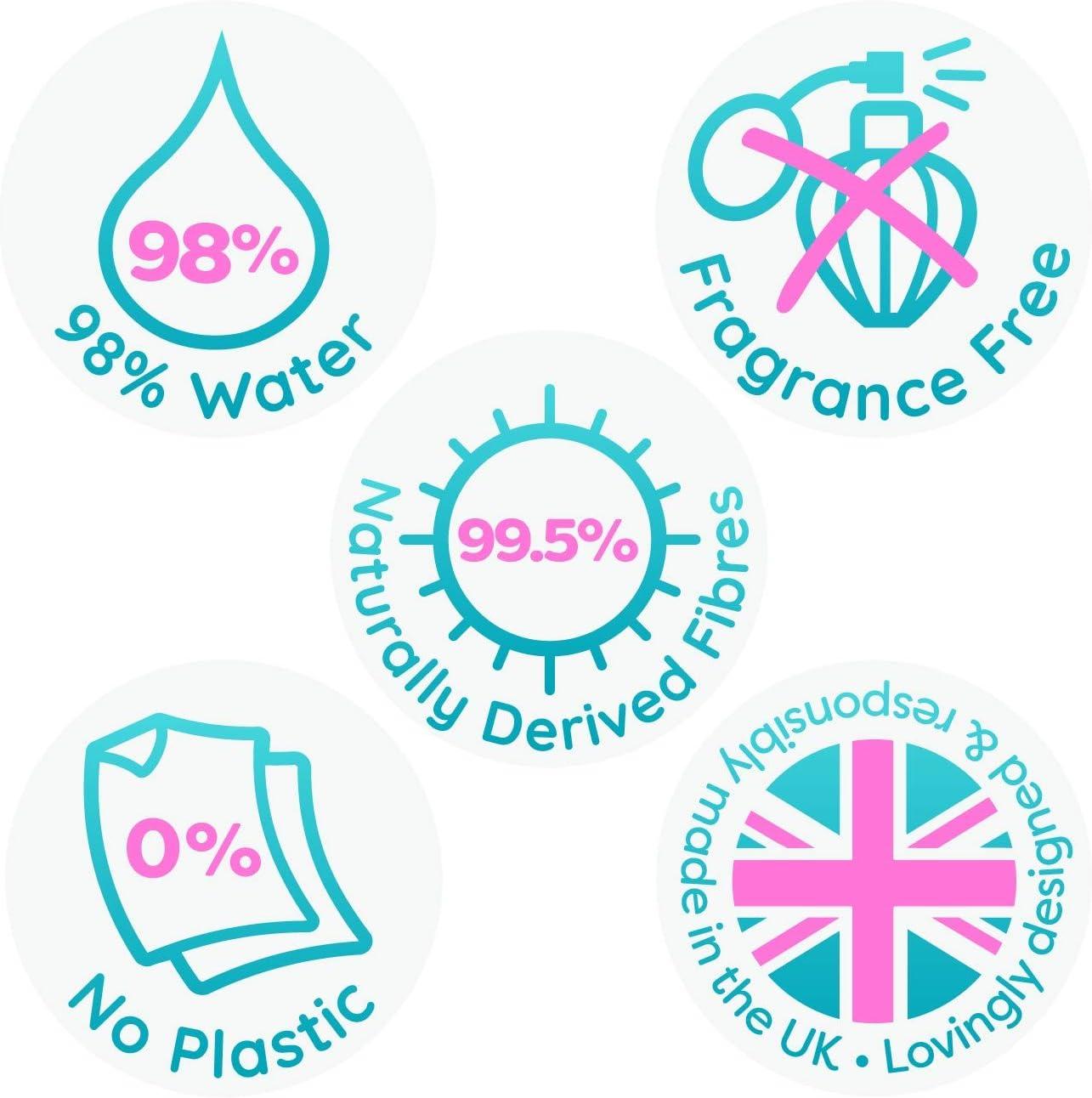 0/% de Plastique 672 lingettes au total Hypoallerg/énique et Test/é Dermatologiquement. Mum /& You Lingettes Humides 100/% Biod/égradables pour B/ébe 98/% Deau paquet de 12,