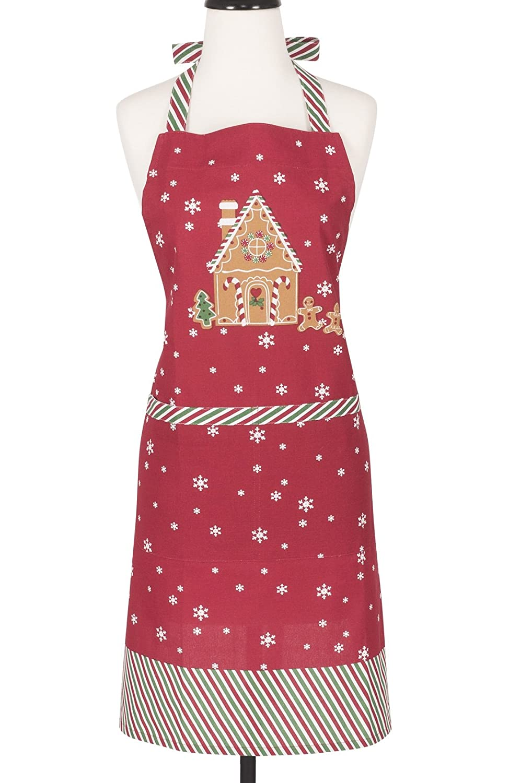 KAF Home Adults Hostess Apron  Gingerbread  Adjustable Fit   Machine Washable