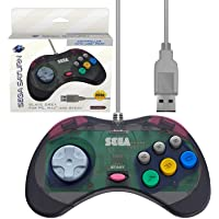 Retro-Bit Official Sega Saturn USB Controller Pad for PC, Mac, Steam, RetroPie, Raspberry Pi -  USB Port - Slate Grey
