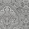Large Scale Paisley in Black and White - BW28703