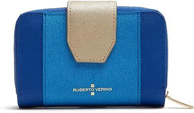 Roberto Verino Cartera piel saffiano Azul