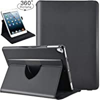 ABOUTTHEFIT Black Slim-Fit Smart Rubber Folio Case Hard Cover Light-Weight Wake Sleep for Apple iPad 5th 6th Generation Retina Model A1893 A1954 A1822 A1823