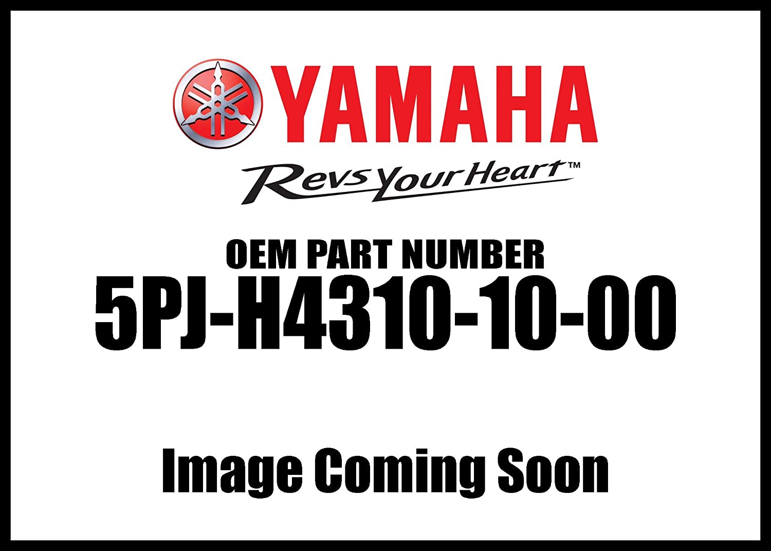 Yamaha 5PJ-H4310-10-00 Headlight Lens Assembly Lh; 5PJH43101000 Made by Yamaha