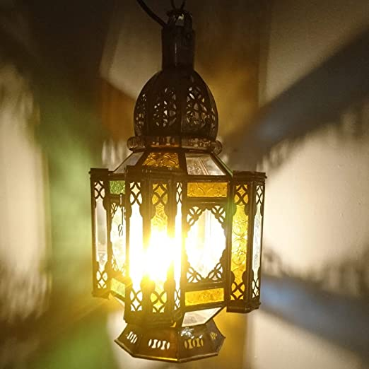 Farol marroquí (Multicolor 60 cm | orientales marroquí Wind Luz ...