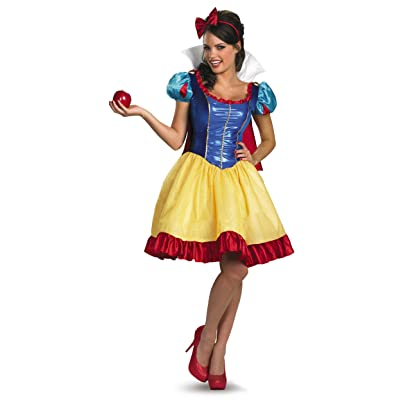 Disguise Women's Disney Deluxe Sassy Snow White Costume: Clothing