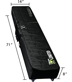 Demon United Snowboard Bag Padded with Wheels XXL Version- Perfect  Snowboard Bag Wheeled for Air 50d403a41e436