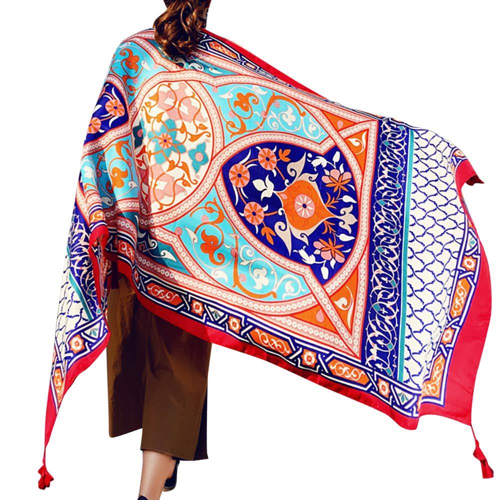 Womens Scarf Wraps Shawl Oversized Bohemian Soft Blanket 75''x 40''-Boho Throw Blanket-Picnic Blanket-Bed Runner-Tablecloth,Sheer Gift for Women Girls (TC02)