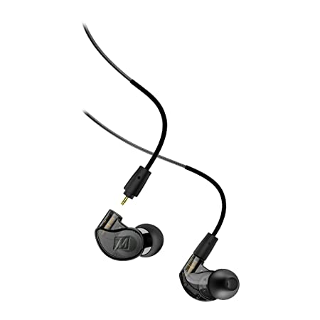 MEE audio M6 PRO Musicians In-Ear Monitors with Detachable Cables Universal-Fit and Noise-Isolating 2nd Generation Black