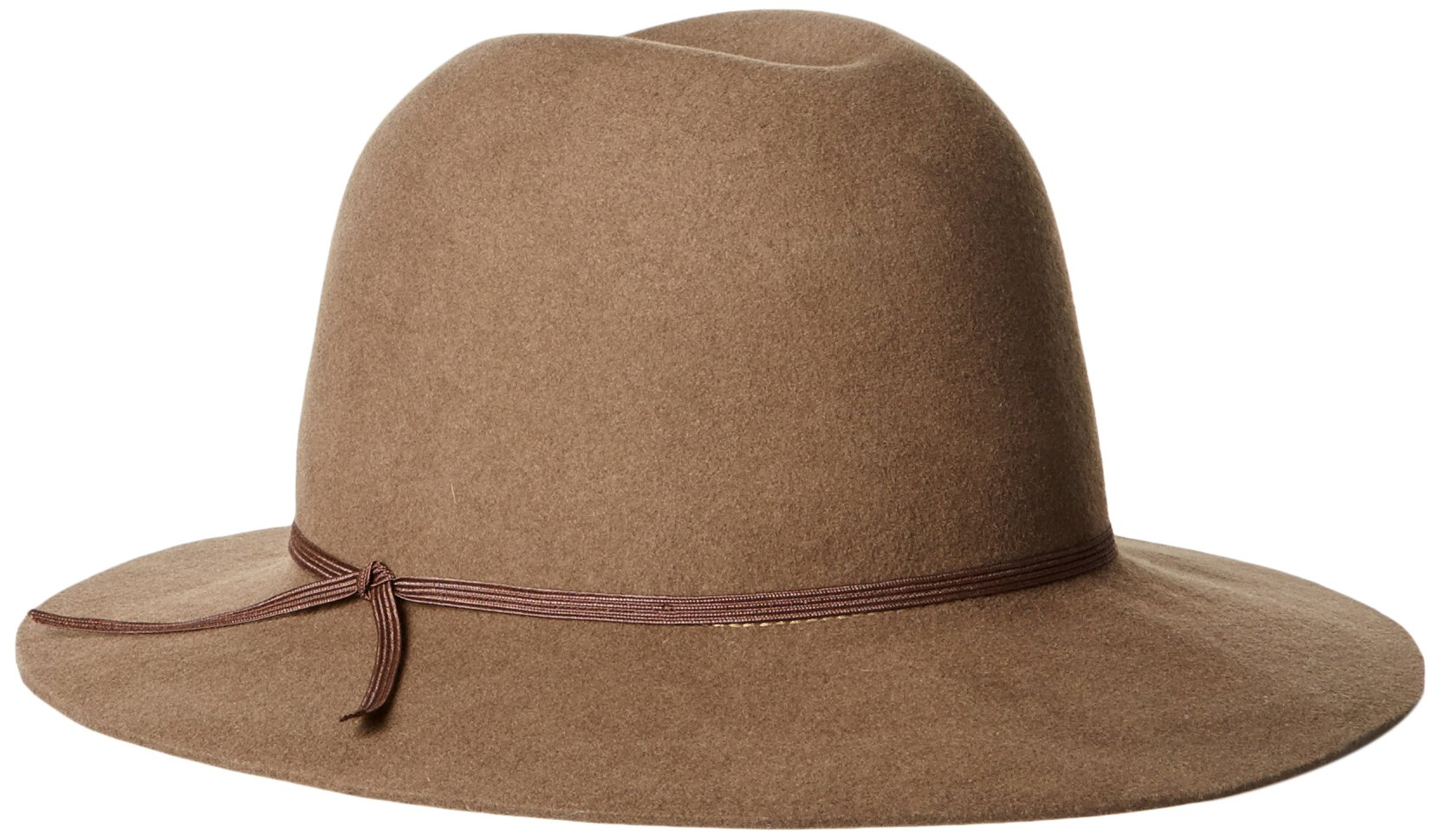 Hat Attack Women's Water Resistant Wool Felt Hat, Putty, One Size