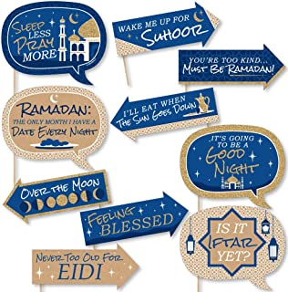 product image for Funny Ramadan - Eid Mubarak Photo Booth Props Kit - 10 Piece