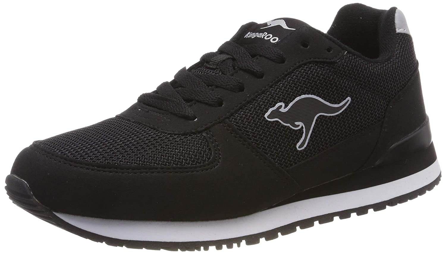 c8e5c72092a Amazon.com | KangaROOS Unisex's Retro Racer Trainers, Schwarz (Jet Black  5001), 8 UK | Fashion Sneakers
