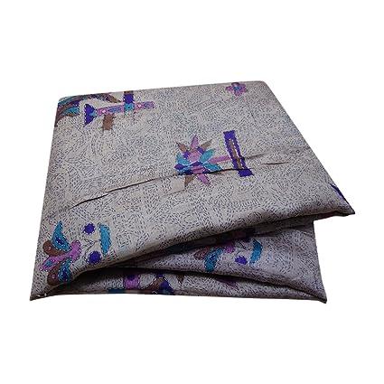 PEEGLI Saris Indio De La Vendimia Sarong De Seda Gris Mujer Abrigo Vestido Étnico Sari Bollywood