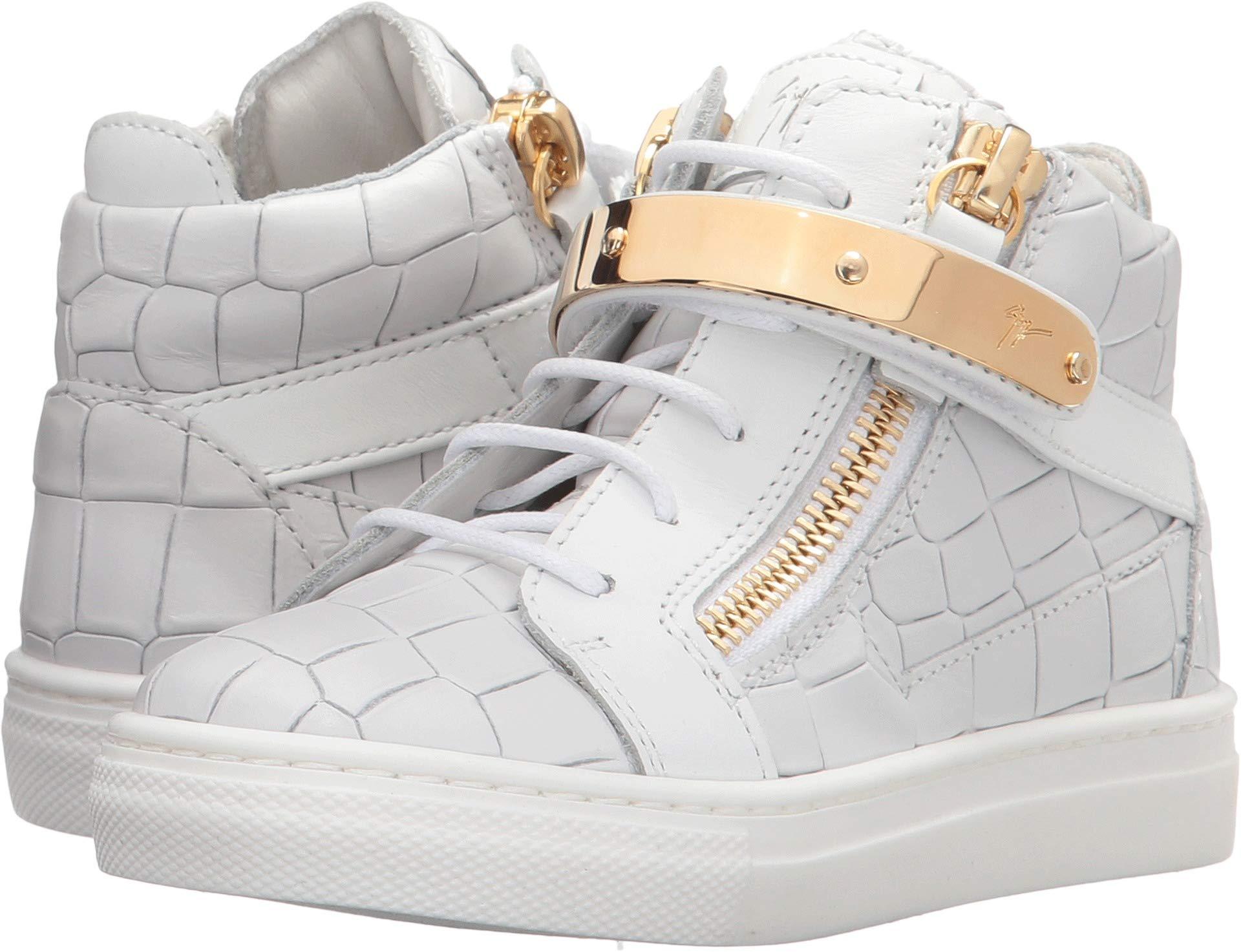 Giuseppe Zanotti Kids Unisex Aftering Sneaker (Toddler/Little Kid) White 19 M EU M