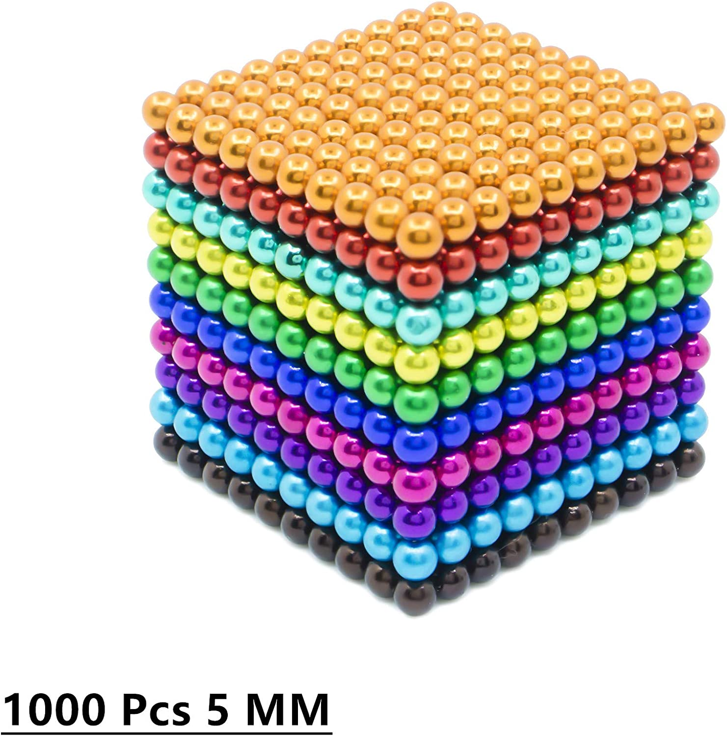 sunsoy 1000 PCS Magnet Balls 5 MM Powerful DIY Office Creative Desktop Craft Decoration Stress Reliever for Adults