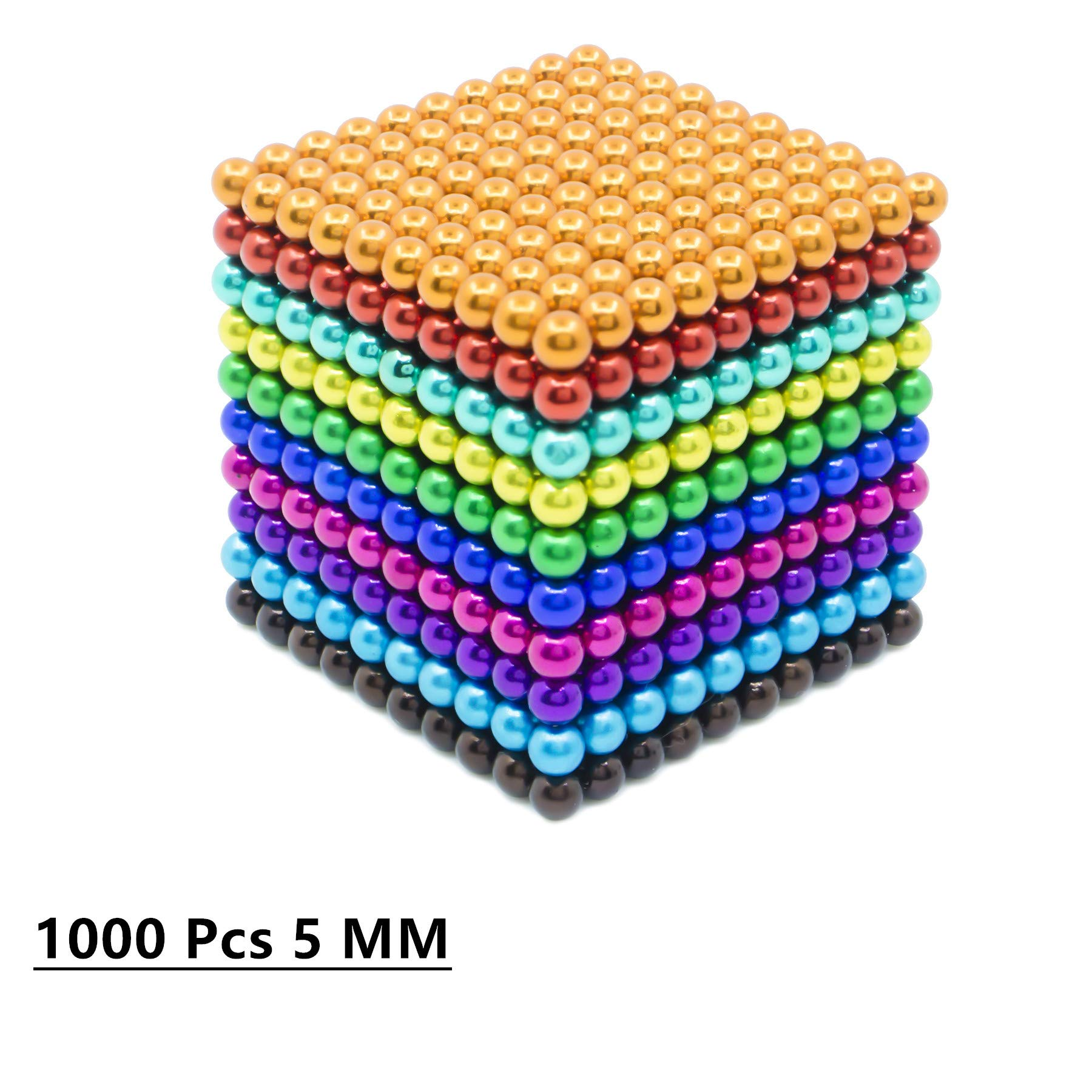 sunsoy 1000 Pieces 5mm Sculpture Building Blocks Toys for Intelligence Learning -Office Toy & Stress Relief for Adults Colorful