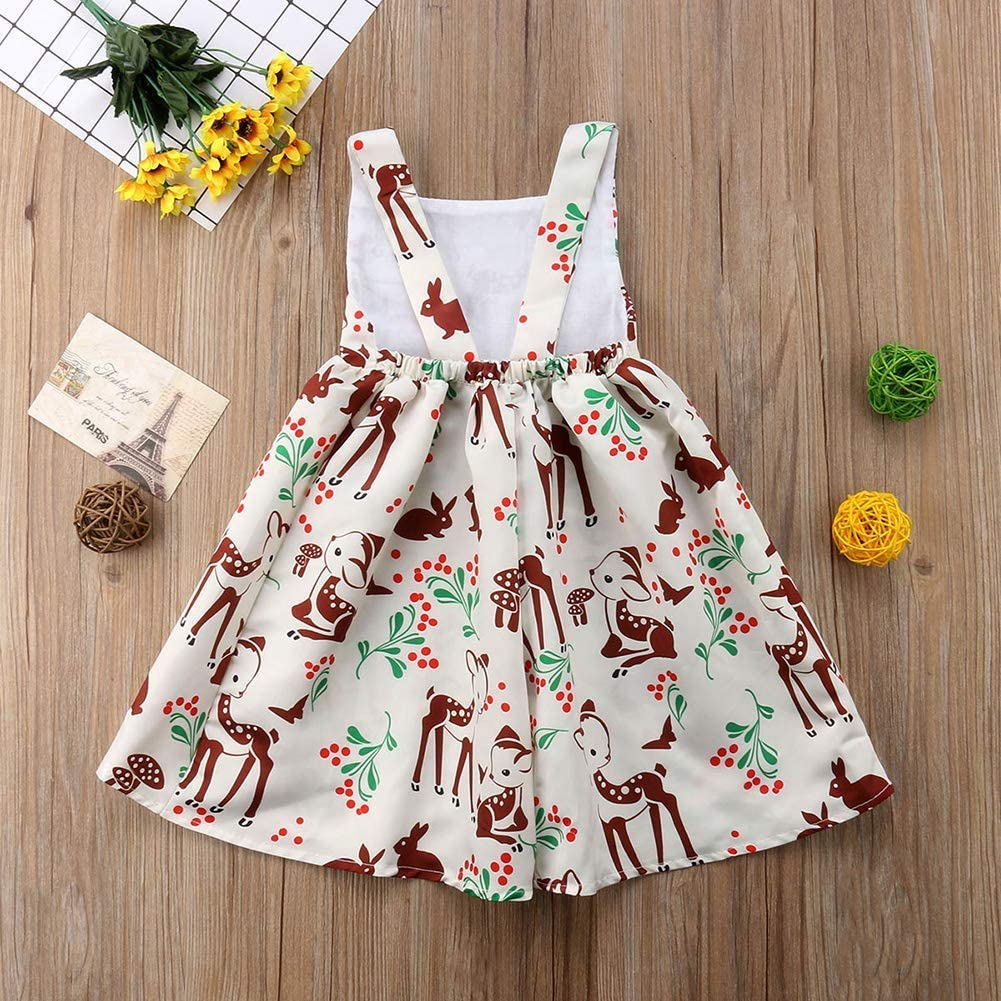 Wlhwllw Infant Baby Girl Sleeveless Floral Print Midi Dresses Summer Backless Strap Evening Party Princess Dress