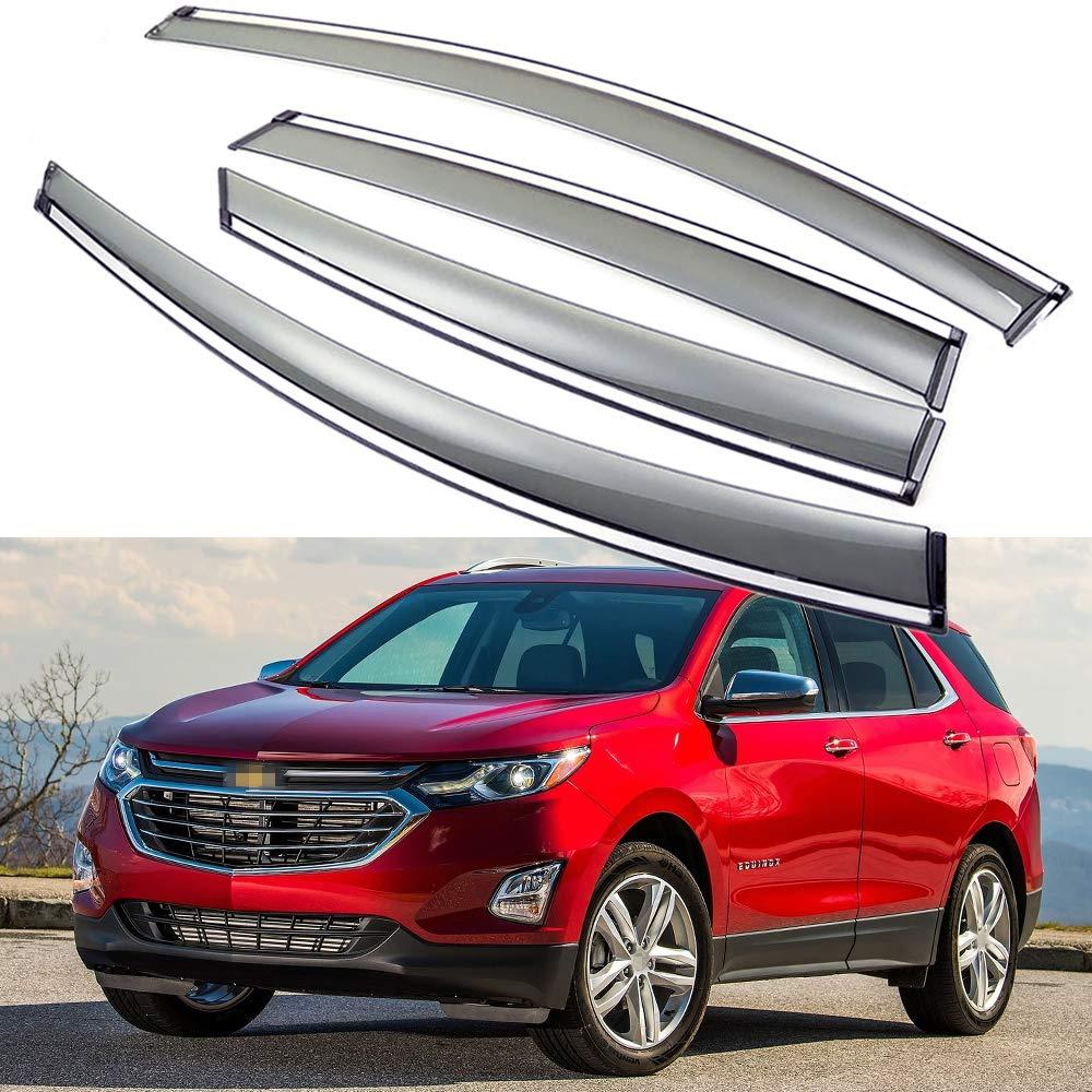 SPEEDLONG 4Pcs Car Window Visor Vent Shade Deflector Sun/Rain Guard fit for Chevy Chevrolet Equinox 2018 2019 2020